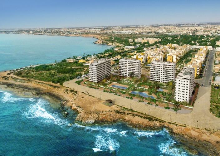 Новые квартиры с видом на море в Пунта Прима