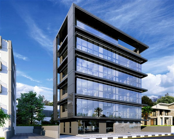brand new modern office building in limassol