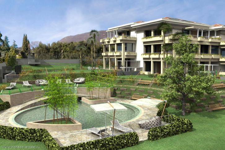 Новые апартаменты с видом на озеро в Гардоне-Ривьера.